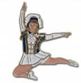 Tanzmariechen Sprung Pin - Farbe - blau-weiß