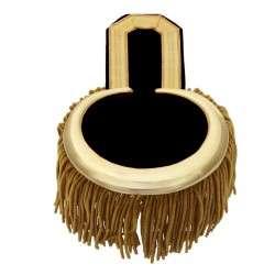 Epauletten gold  (ein Paar) mit Fransen gold-schwarz