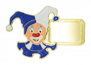 "Karnevalspin ""Clown"" blau"