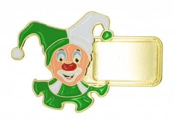 """Karnevalspin """"Clown"""" grün"""