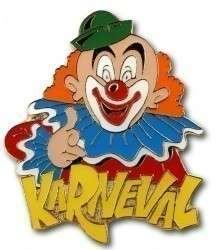 """Karnevalspin Clown mit """"Karneval"""""""