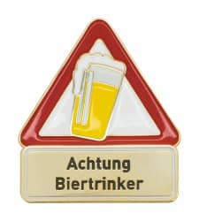 Achtung Biertrinker - Pin