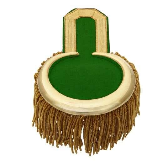 Epauletten mit Fransen gold-grün