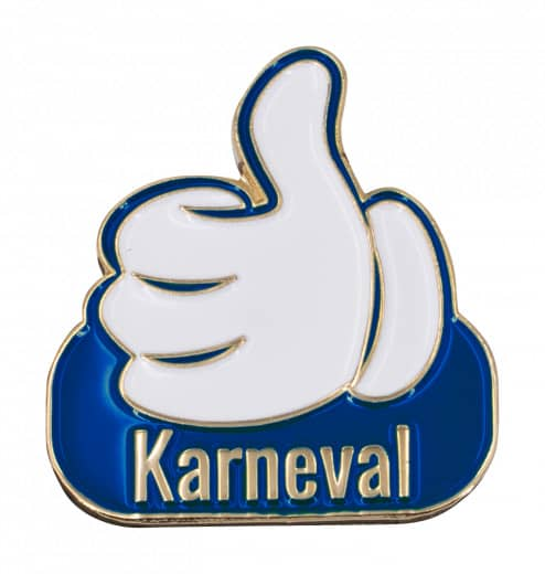 "Thumbs Up Pin ""Karneval"""