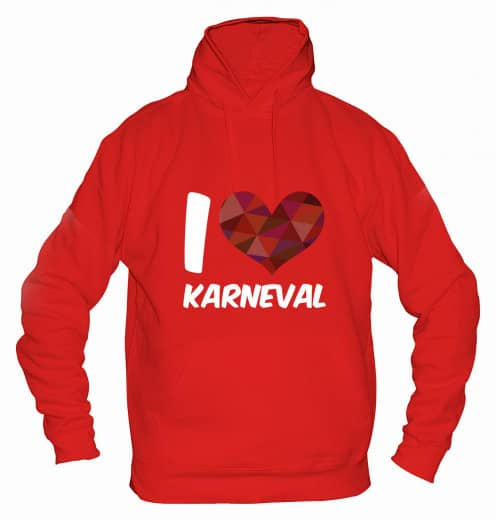 "Hoodie ""I Love Karneval"" - Herren Rot | XS"