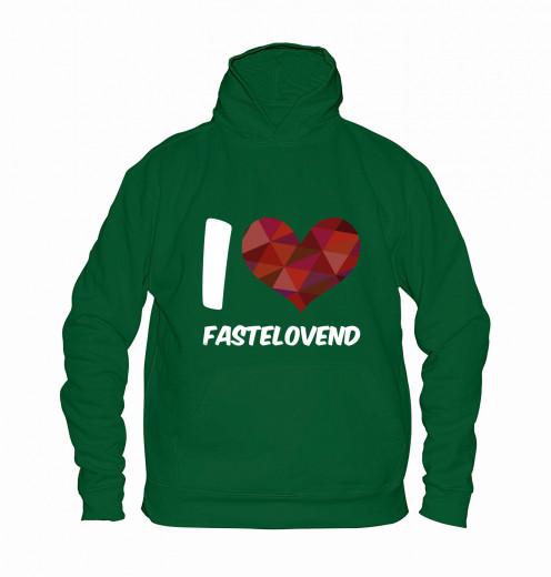 "Hoodie ""I Love Fastelovend"" - Kinder Grün   104"