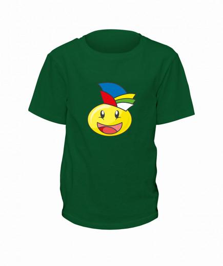 "T-Shirt Smilie ""Der Jecke"" - Kinder Grün | 90"