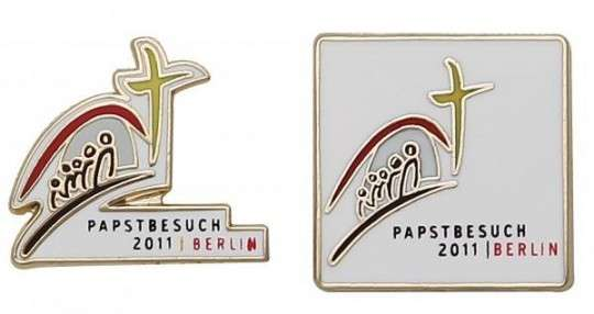 "Pins Hartemaille ""Papstbesuch"""