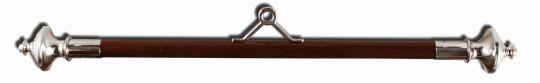 Querstange Holz 60mm 70cm | verchromt