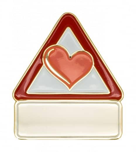 Achtung Herz - Pin