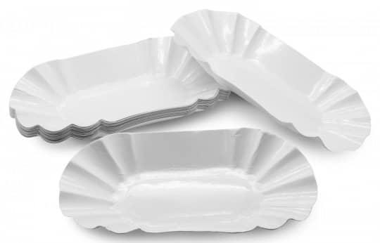 """Pappschalen """"Pommesschale"""", weiß, oval - 250 Stk."""