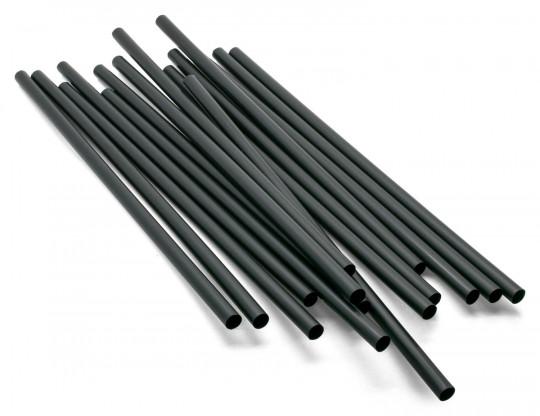 500 Stk. Trinkhalme schwarz