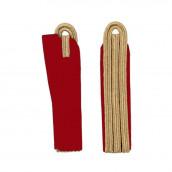 3-streifige Schulterstücke in gold