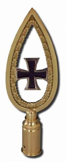 "Rahmenspitze ""Eisernes Kreuz"" Messing poliert | 26cm"