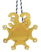 Karnevalsorden 33 Jahre mit Schmucksteinen gold
