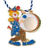 Karnevalsorden - Clown mit Pauke