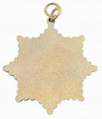 Karnevalsorden - kleiner Sternorden mit gekreuzten Zeptern+Kronen gold