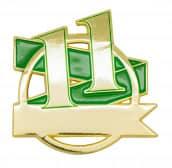 Jubiläumspin - 11 Jahre grün