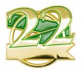 Jubiläumspin - 22 Jahre grün