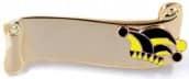 Narrenspange gold mit Gravurfläche schwarz-gelb