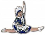 Tanzmariechen Spagat Pin blau-weiß