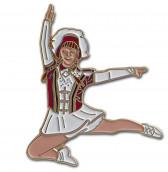 Tanzmariechen Sprung Pin rot-weiß