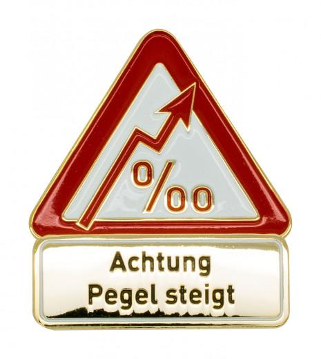 Achtung Pegel steigt - Pin