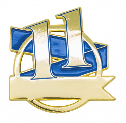 Jubiläumspin - 11 Jahre blau