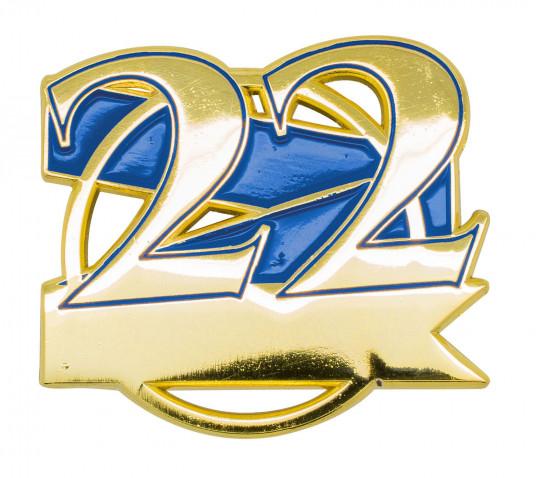 Jubiläumspin - 22 Jahre blau