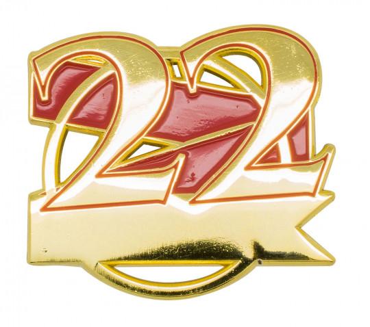 Jubiläumspin - 22 Jahre rot