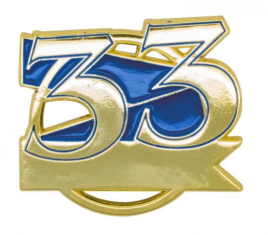 Jubiläumspin - 33 Jahre blau