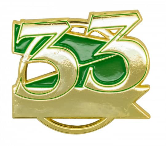 Jubiläumspin - 33 Jahre grün