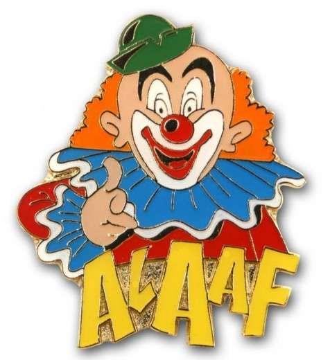 "Karnevalspin Clown mit ""Alaaf"""
