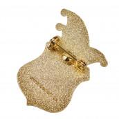 Karnevalspin mit Gravurfläche gold/silber
