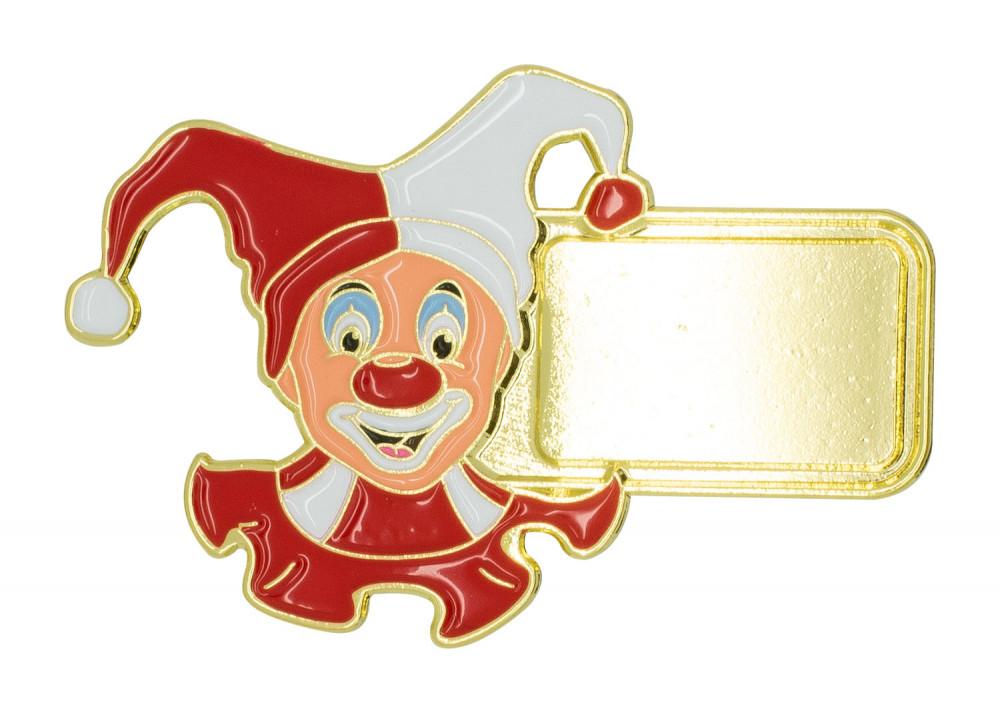 "Karnevalspin ""Clown"" rot"