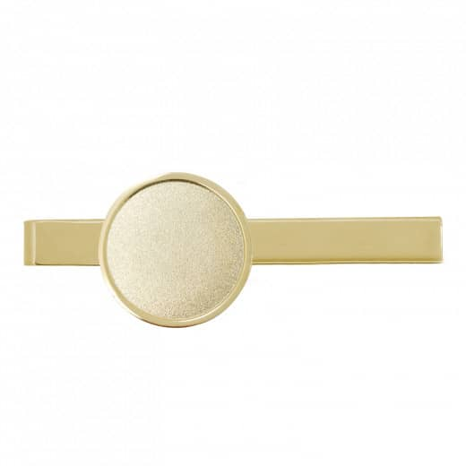 Krawattenklammer mit Auflage rund 25mm gold
