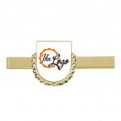 Krawattenklammer mit Wappen mit Kranz gold