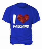 """T-Shirt """"I Love Fasching"""" - Herren"""