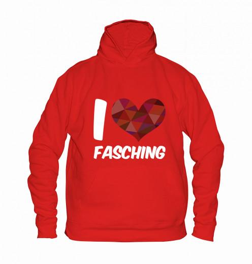 "Hoodie ""I Love Fasching"" - Kinder Rot | 104"