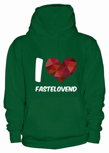 "Hoodie ""I Love Fastelovend"" - Damen Grün | XS"