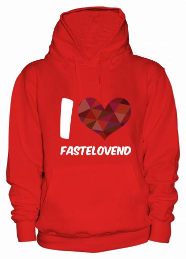 "Hoodie ""I Love Fastelovend"" - Damen Rot | XS"