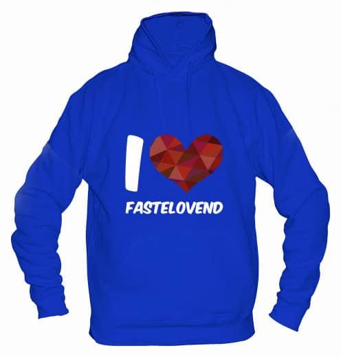 "Hoodie ""I Love Fastelovend"" - Herren Blau | XS"