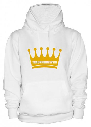 """Hoodie """"Traumprinzessin"""" - Damen Weiß   XS"""