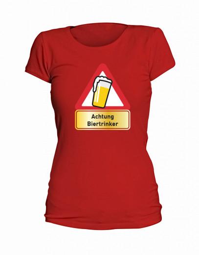 """T-Shirt """"Achtung Biertrinker"""" - Damen"""