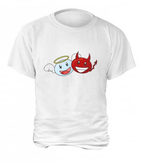 "T-Shirt ""Angel & Devil"" - Herren Weiß 