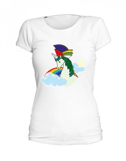 """T-Shirt """"Einhorn Narrenkappe"""" - Damen"""