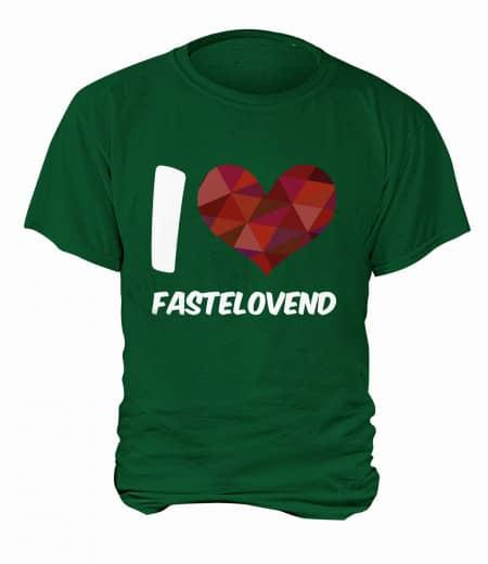 "T-Shirt ""I Love Fastelovend"" - Herren Grün | XS"