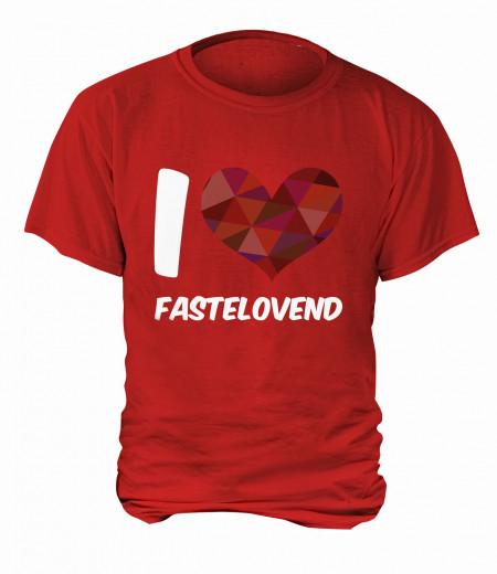"T-Shirt ""I Love Fastelovend"" - Herren Rot | XS"