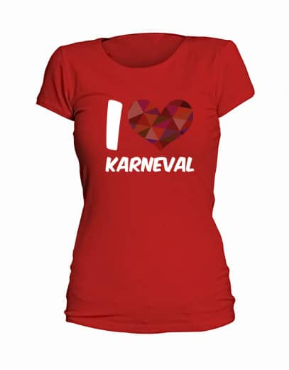 "T-Shirt ""I Love Karneval"" - Damen"