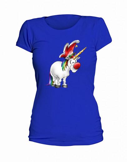 "T-Shirt ""Jeckes Einhorn"" - Damen Blau | S"